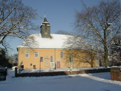 Lenther Kirche Außen im Winter©Stadt Gehrden