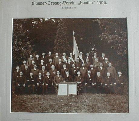 Männergesangsverein Lenthe Gruppenfoto (1906)©Stadt Gehrden